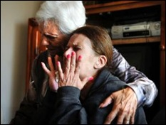 DE WAAL LOUISE mother Shireen and grandmother Joan hear her torched body was found Oct122011