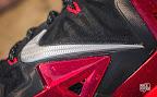 nike lebron 11 gr black red 10 04 New Photos // Nike LeBron XI Miami Heat (616175 001)