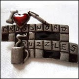 Crossword Brooch - Etsy