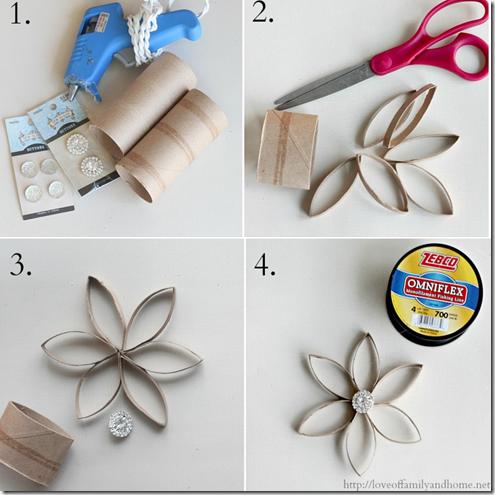 Navidad adornos con tubos de higi nico - Adornos navidenos con rollos de papel higienico ...