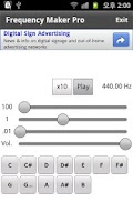 Screenshot of Frequency Maker Pro