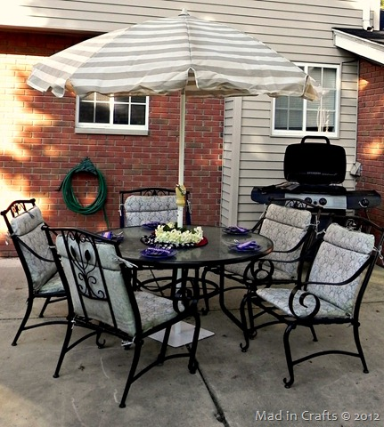 patio set painted