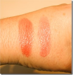 blush and lip swatches
