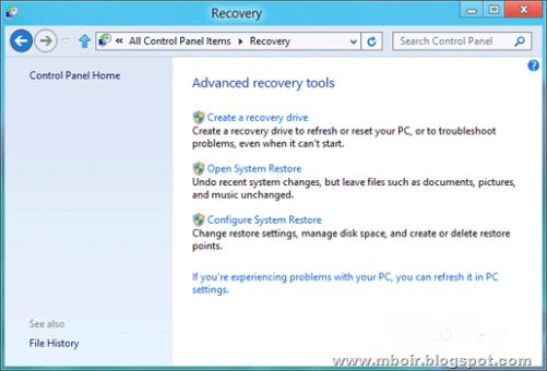 Windows 8 Recovery - mboir