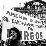 1971: Saint Jean de Luz manifestation de soutien aux prisonniers du procés de Burgos