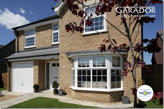 Garador Carlton garage door in Traffic White