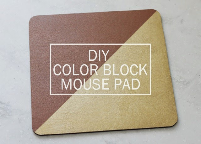DIY Color Block Mouse Pad