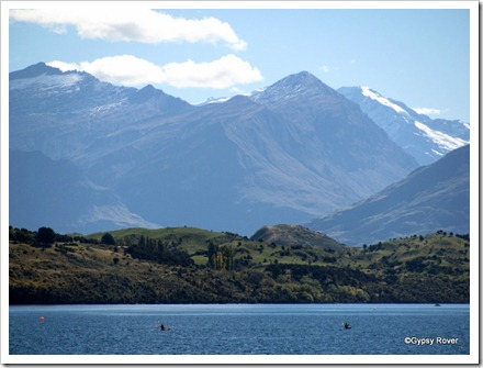 The hills and mountains around Lake Wanaka.