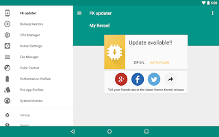 Screenshot of franco.Kernel updater