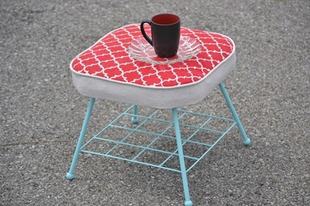 Infarrantly Creative Stenciled-Footstool