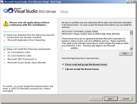 Cara Aktivasi Visual Studio 2010.2