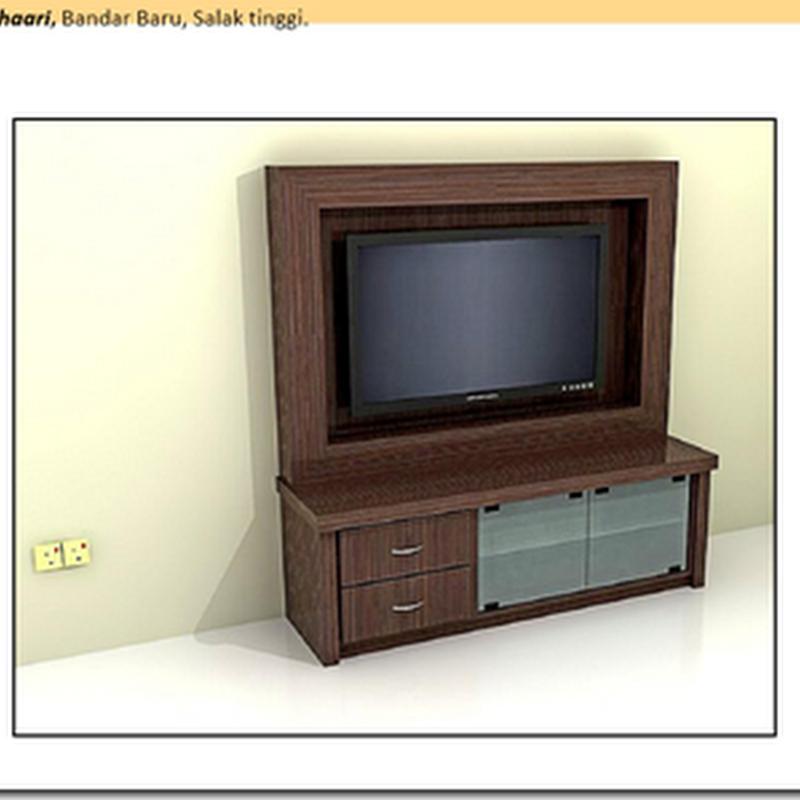Design khas TV Console untukku !