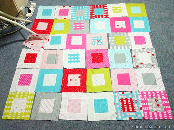 Sew Stitchy Squares Layout