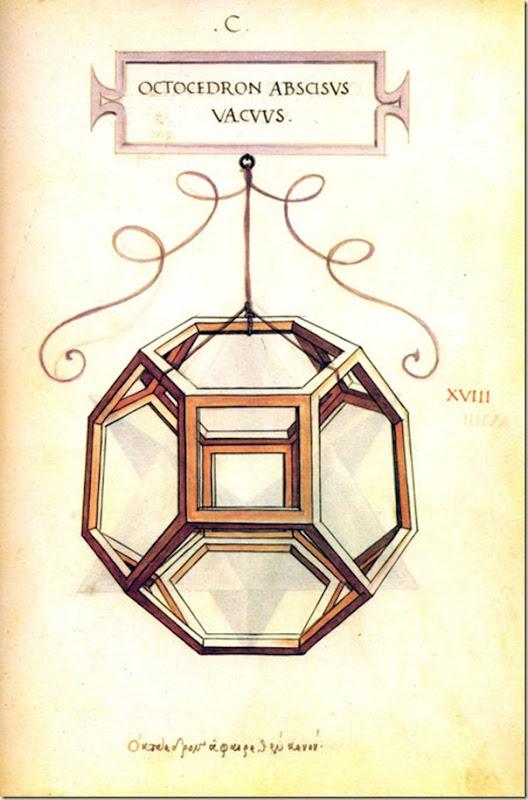 Leonard de Vinci, Polyèdre