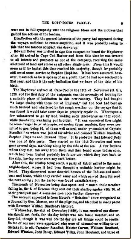 Doty-Doten Family In America - The Family of Edward Doty (4)