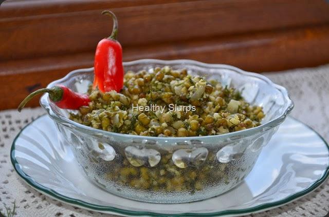Hesaru kalu sabsige soppu palya - Happy Ugadi