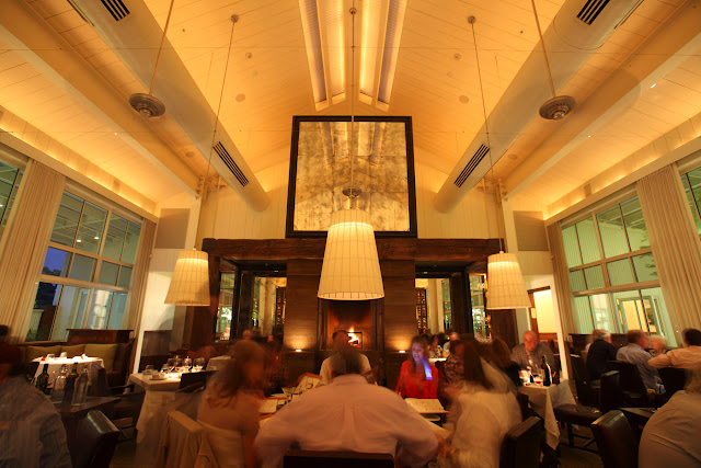 The dining room at Press Restaurant, St. Helena, California, Napa Valley.