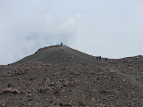 Looking back at the 'monument/tugu' on the crater area on Gunung Marapi (Dan Quinn, June 2013)