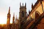 York Minster is a cathedral in York, England. Its one of the world's most magnificent cathedrals.