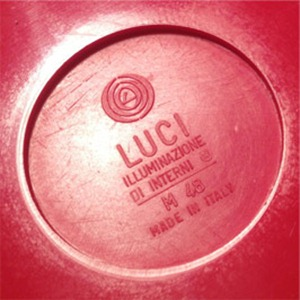 Luci Poker M48 ashtray, red imprint