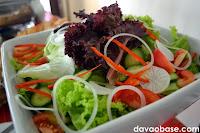 Fresh green salad at The Swiss Deli Restaurant