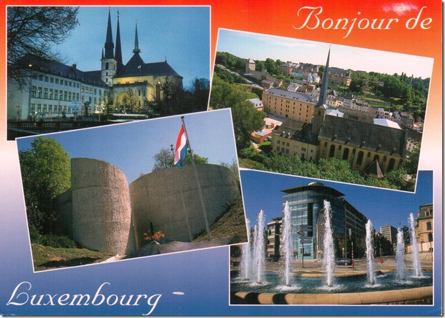 Luxembourg postcard front