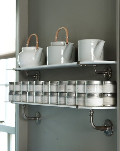 Spices have their own shelf in Martha's home. These narrow shelves can be bought almost anywhere and they will make a huge impact on the storage space in your kitchen.