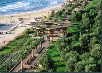 Netanya beach and Rishonim  promenade