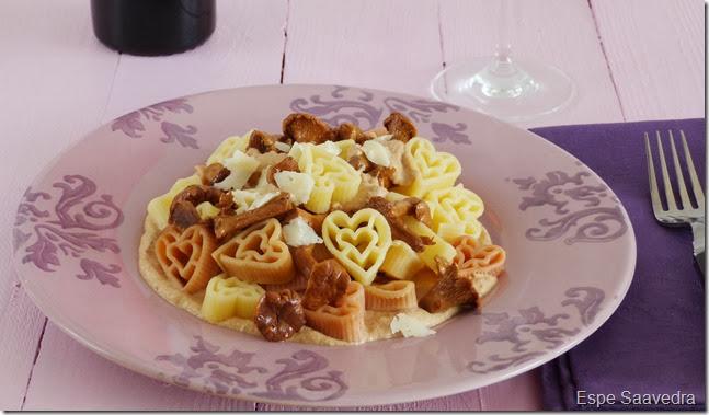 pasta con salsa de setas espe saavedra