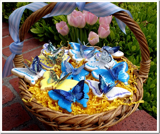 Basket of Butterfly Cookies