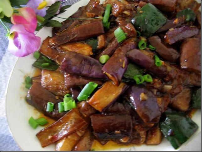 eggplant with jiucai