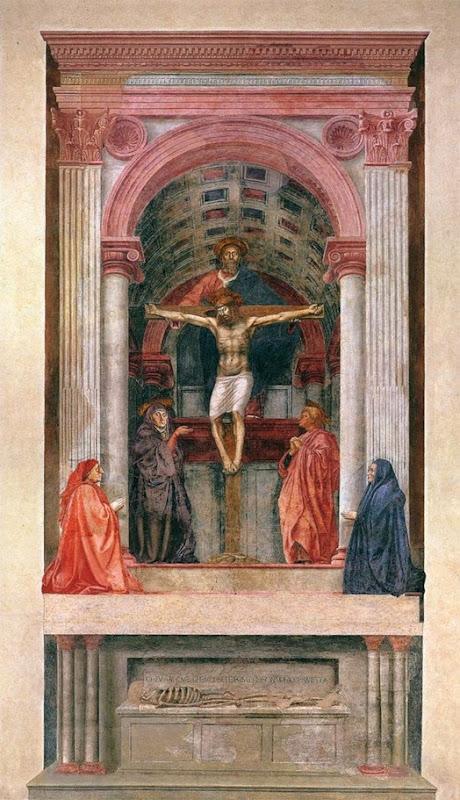 Trinidad, fresco en Santa María Novella