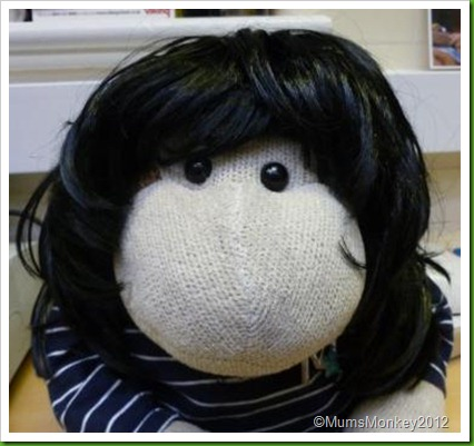 Monkey in a wig 3