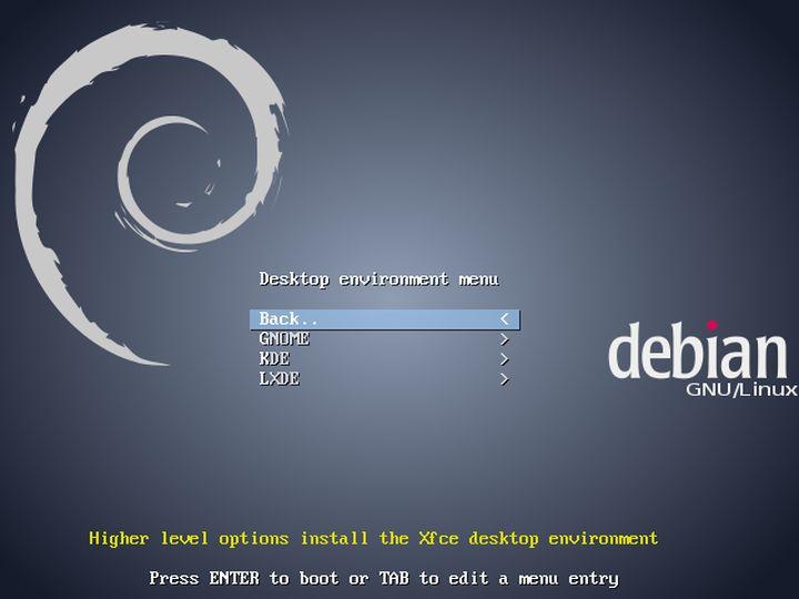Debian Neinstall - Desktop Environment