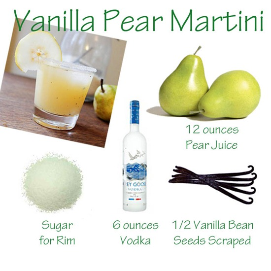 Vanilla Pear Martini