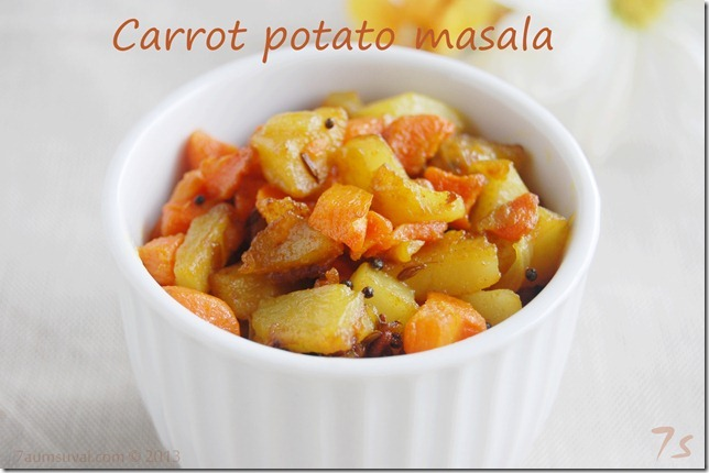 Carrot potato masala