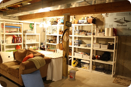 basement craft area