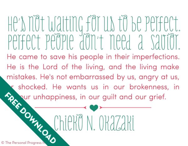 Come Follow Me: The Atonement of Jesus Christ | Chieko N. Okazaki Quote Free Download