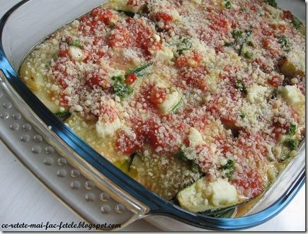 Parmigiana di zucchine - turnam ouale batute deasupra
