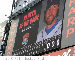 'Co-Player of the Game - R.A. Dickey' photo (c) 2010, slgckgc - license: http://creativecommons.org/licenses/by/2.0/