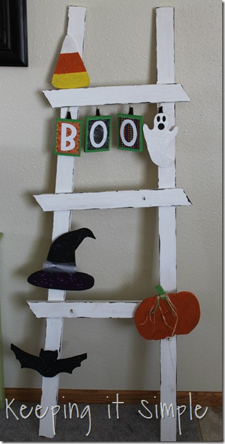 DIY Halloween Ladder decor (14)