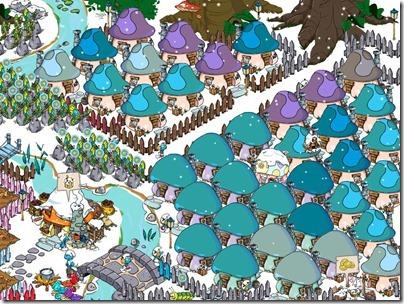 Snowing Smurfs' Village