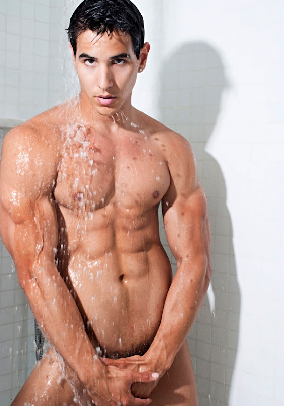 Ripped Dude in the Shower