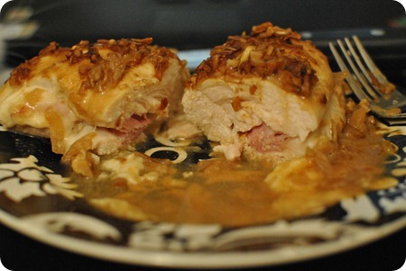onion dijon chicken cordon bleu