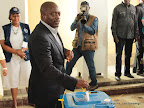 Le président Kabila Kabangé vote le 28/11/2011 à l'athénée de la Gombe à Kinshasa. Radio Okapi/ Ph. John Bompengo