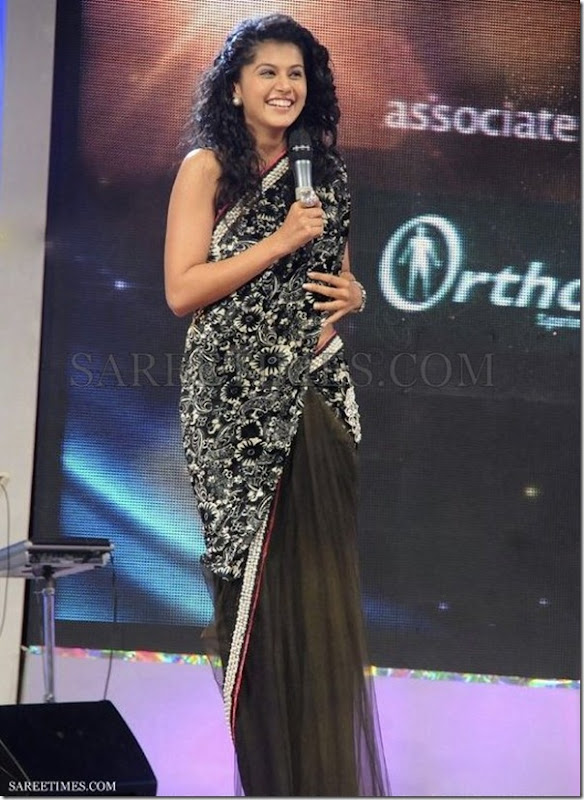 Tapsee_Black_Saree