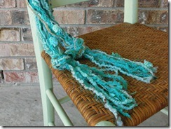 teal blue green necklace scarf