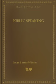 Cover of Irvah Lester Winter's Book Public Speaking Principles And Practice