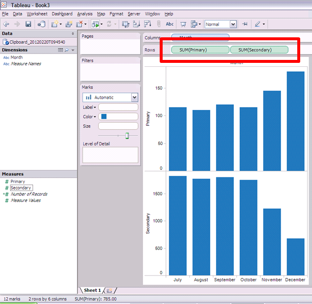 how to get axis on both sides in excel 2013