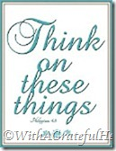 think on these things Blog button
